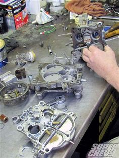 Curing Quadrajet Carb Woes--Here Are Some Interesting Century Fixes For Your Century Rochester Carburetor - Super Chevy Magazine Truck Repair, Engine Repair, Car Engine, Carburetor Tuning, Super Chevy Magazine, Chevy Motors, Car Facts, Old School Cars, Car Tuning