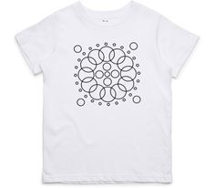 El Cheapo Concentric Circle (Black) Youth White T-Shirt