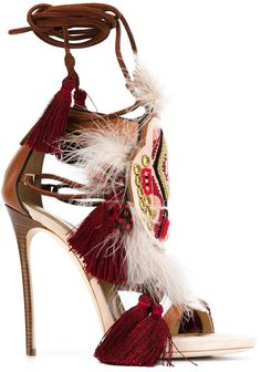 Dsquared2 tassel detail sandals