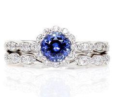 Engagement Ring Blue Halo 5