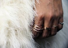Gold stacked rings - the accessory we love most.