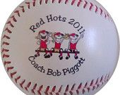 personalized baseball....coach's gift idea?