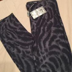 Gianni Versace NWT pants sz xs Grey stretch animal print pants Versace Pants Skinny