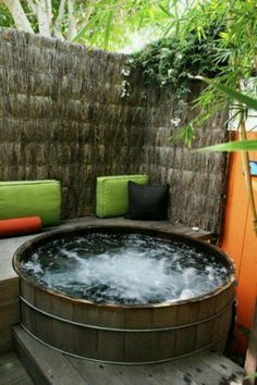 Relaxing spa. Reminds me of the hot tubs at El Monte Sagrado Resort in Taos!