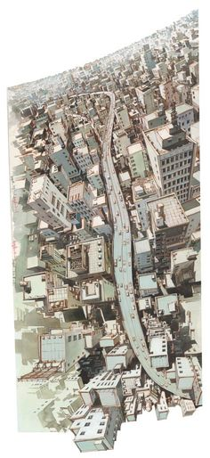 Tekkon Kinkreet, 2006 artwork. Studio 4ºC | Tekkon Kinkreet has the most stunning realization of an imaginary city I've seen since Blade Runner.