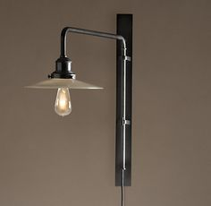 cafe_sconces over the booth seating Circa 1900 Train Station Swing-Arm Sconce $229