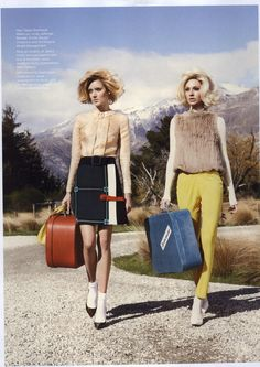 Vogue Australia Editorial Twin Peaks, July 2011