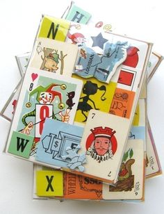 Vintage FUN and GAMES Ephemera - ASSORTED - For Collage, Scrapbooking and More $6.00