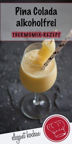 Pina Colada alkoholfrei mit NUR 3 Zutaten! #alkoholfreieCocktails #Cocktailseinfach #CocktailsRezepte #Sommercocktail #Partycocktail #MocktailRezept