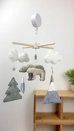 Woodland Baby, Woodland Nursery, Wooden Owl, Bear Nursery, Baby Mobiles, Kraft Gift Boxes, Cribs, Nursery Decor, Creations