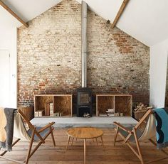 Warm Up with 16 Wood Burning Fireplaces and Stoves via Brit + Co.
