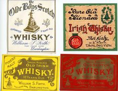 Old Whiskey Labels | ... OLD IRISH WHISKY. OLD SCOTCH WHISKY. You get all four whisky labels
