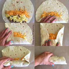 How to Fold a Burrito | Breakfast Burrito Freezer Meal Recipe