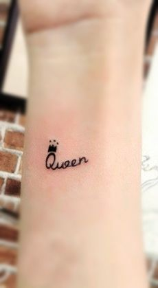 #queen #tattoo with a crown