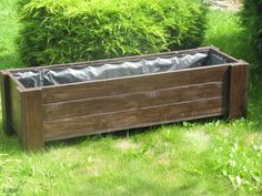 Flower Pot, Flowerpot, Wooden Flower Box 135x44x40