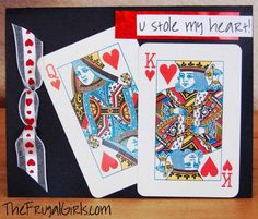 Creative Homemade Valentine's Day Card Ideas! at TheFrugalGirls.com  {You Stole My Heart + more!} #valentines #day #cards