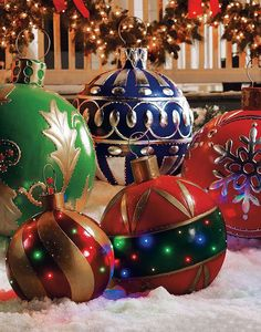 christmas is coming christmas ornaments - Large Outdoor Christmas Decorations