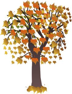 Image result for fall trees clipart
