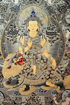 Beautiful thangka painting of Goddess Tara riding an elegant snow lion. Silver and gold have been used for the intricate decorations. Thangka Painting, Buddhist Teachings, Buddha Art, Tibetan Buddhism, Korean Art, Sacred Art, Aesthetic Art, Indian Art, Nirvana
