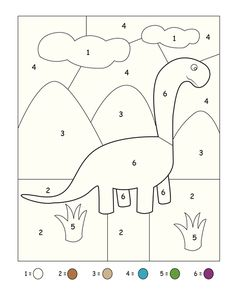Image for dinosaur coloring numbers « funnycrafts Dinosaurs Preschool, Preschool Writing, Preschool Classroom, Preschool Learning Activities, Free Preschool, Preschool Activities, Preschool Colors, Kindergarten Addition Worksheets, Kindergarten Math Worksheets