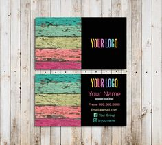 Consultant Business Cards Printable Colorful Wood and Black Business Card Template Independent Fashion Retailer Wood Business Cards, Printable Business Cards, Black Business Card, Printable Labels, Printable Cards, Lularoe Business Cards, Consultant Business, Business Card Design Inspiration, Online Print Shop
