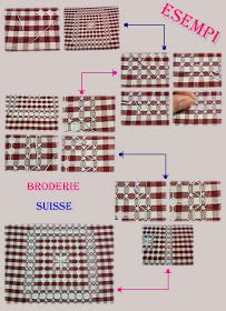 Anastasia mercerie ingrosso - Settimo Torinese: Curiosità RICAMO Broderie Suisse Chicken Scratch Embroidery, Hand Embroidery Stitches, Anastasia, Needlepoint, Gingham, Needlework, Crafty, Sewing, Winter Craft