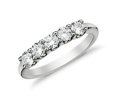 U-Prong Five-Stone Diamond Ring in 14k White Gold (3/4 ct. tw.)  perfect for my 5th wedding anniversary!  hmmm. we'll see.