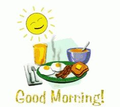 Good Morning Breakfast GIF - GoodMorning Breakfast - Discover & Share GIFs The Effective Pictures We Offer You About beautiful GIF A quality picture can tell you many things. You can find the most bea Good Morning Cartoon, Cute Good Morning Images, Good Morning For Him, Good Morning Funny, Good Morning Sunshine, Good Morning Greetings, Morning Pictures, Good Morning Wishes, Good Morning Gif Animation