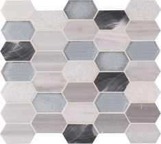 Harlow Picket 12 Inch x 12 Inch Glass Metal Stone Mesh-Mounted Mosaic Tile (9.90 sq. ft. / case)