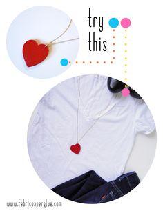 Fabric Paper Glue | DIY Simple Heart Necklace Tutorial