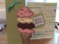 Stampin up's Sprinkles folded card