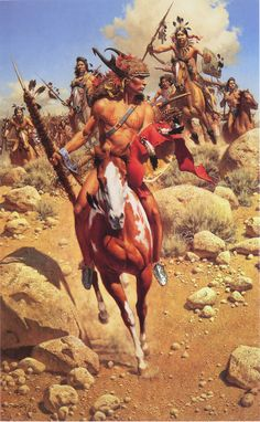 The Chief: western art by Frank C. Native American Warrior, Native American Pictures, Native American Artwork, Native American Beauty, Native American Artists, Native American History, Westerns, Native Indian, Native Art