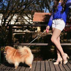 Levando o cachorro pra passear? Ou levando o sapato novo pra passear? Você que escolhe.  Sandália ref. N7583