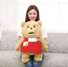 "29.59$  Watch here - http://aimw6.worlditems.win/all/product.php?id=32398836386 - ""Hot Sale 60CM 24"""" Cartoon Movie Teddy Bear TED Plush Toys Soft Stuffed Animal Dolls Classic Toy Kids Gift"""