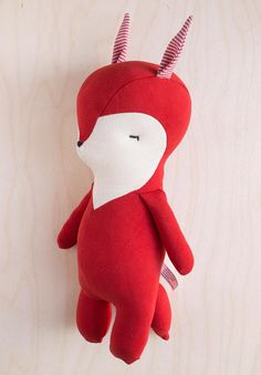 Jesse the GIANT fox via rousskine Dinosaur Stuffed Animal, Fox, Nursery, Christmas Ornaments, Vintage, Holiday Decor, Unique Jewelry, Handmade Gifts, Animals