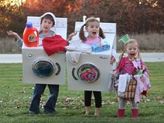 Dirty Laundry and Washing Machine Halloween Costumes
