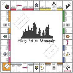 Harry Potter Monopoly Cross Stitch Pattern by KatsCrossStitchery