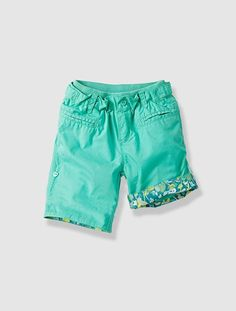 Girl's Printed Shorts with Turn-Ups Chor, Bermuda, Printed Shorts, Get Dressed, Couture, Pipes, Swimwear, Clothes, Button