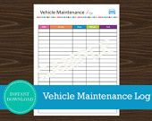 #Travel Planner - Vehicle Maintenance Log Road Trip Planner, Travel Planner, Vehicle Maintenance Log, Road Trippers, Home Binder, Car Shop, Printable Planner, Be Yourself Quotes, Planners