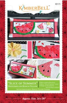 """""""Slice of Summer"""" Watermelon Bench Pillow 