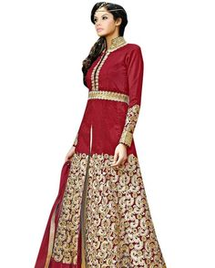 Vibes Women's Pure Banglori Silk Anarkali Style Unstiched Dress Material V358-3004 Product Price:Rs.1899.00 INR Deal Price:Rs.999.00