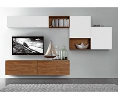 27 Trendy ideas for living room tv wall ikea mounted tv Tv Cabinet Design, Tv Wall Design, Tv Unit Design, Wall Shelves Design, Tv Wall Shelves, Wood Design, Tv Shelf, Ikea Shelves, Shelving Units