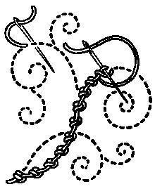 Double knot stitch - Categoría: puntadas de bordado - Wikimedia Commons