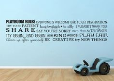 Hey, I found this really awesome Etsy listing at https://www.etsy.com/listing/457967792/playroom-rules-horizontal-toy-room-words