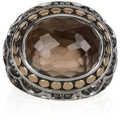 John Hardy Naga 18-karat gold and sterling silver ring - Polyvore