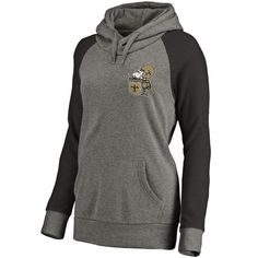 9c93ebec New Orleans Saints NFL Pro Line by Fanatics Branded Women's Plus Sizes  Vintage Lounge Pullover Hoodie - Heathered Gray