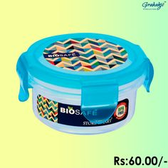 BIO SAFE ROUND CONTAINER 310 ML #BioSafe #EcoProducts #ContainerSet #online #grahakji #ContainerSet #shopping #lunchbox