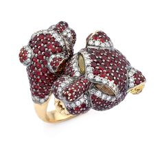 Ruby, Sapphire & Diamond Panther Ring