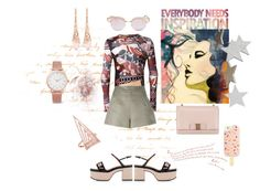 """""""Everybody needs inspiration"""" by zabead ❤ liked on Polyvore featuring Jean-Paul Gaultier, Ermanno Scervino, Rochas, Salvatore Ferragamo, Everest, Larsson & Jennings, Stephen Webster, Le Specs and Tory Burch"""