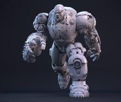 ArtStation - CYBER: Demon Titan CLAY, Dario Bonito Wireframe, Cyber, Lion Sculpture, Clay, Statue, Artwork, Bonito, Clays, Work Of Art